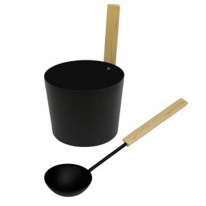 Skopa och stäva Pisla 96308 bastustäva svart